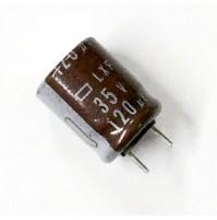 Condensatore Elettrolitico 120uF 35V 105°C Radiale Ø10x13mm