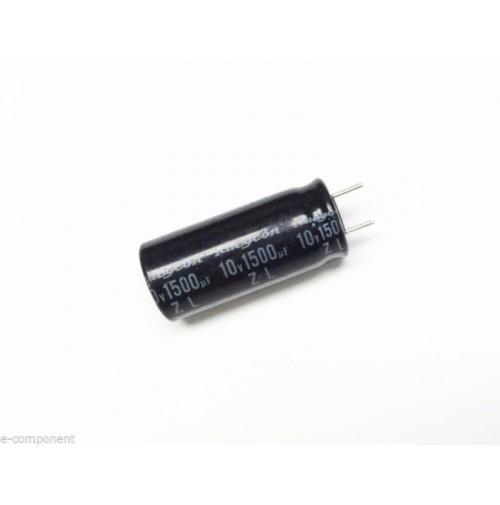 Condensatore Elettrolitico 1500uF 10V 105°C Radiale 10x23mm Performato
