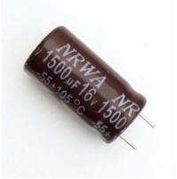 Condensatore Elettrolitico 1500uF 16V -55/105°C Radiale Ø10x22mm NRWA