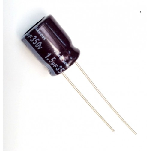 Condensatore Elettrolitico 1,5uF 350V 105°C Rad. 10x13mm Nichicon