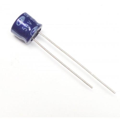 Condensatore Elettrolitico 15uF 50V 85°C Radiale 7x6mm SE