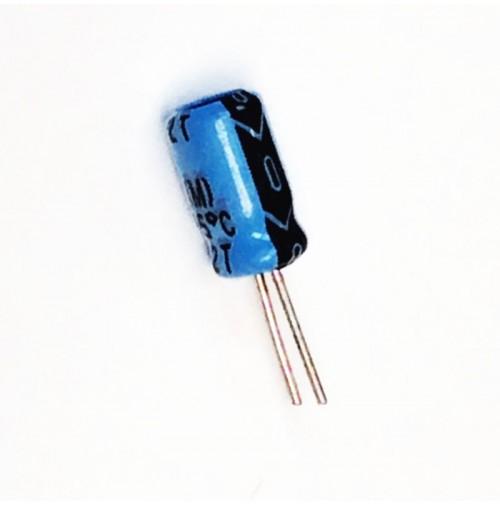 Condensatore Elettrolitico 1uF 50V 85°C Radiale 4x7mm DAEWOO (3 pezzi)