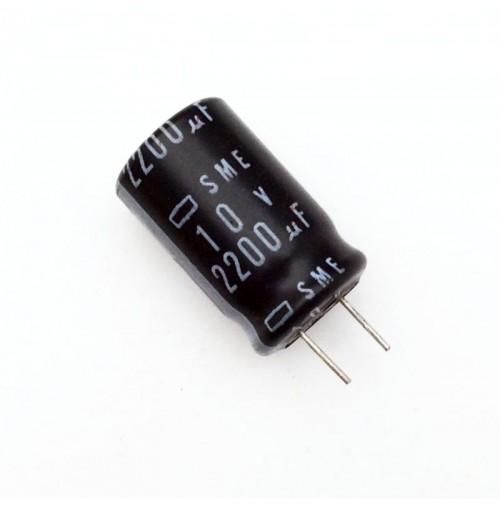 Condensatore Elettrolitico 2200uF 10V 85°C Radiale 13x21mm SME