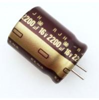 Condensatore Elettrolitico 2200uF 16V 105°C Radiale 17x21mm RJH ELNA
