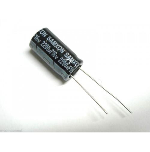 Condensatore Elettrolitico 2200uF 16V -40/+105°C Radiale