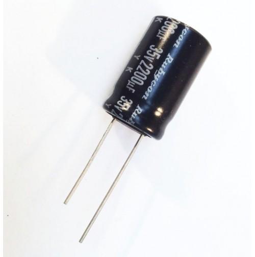 Condensatore Elettrolitico 2200uF 35V 85°C Radiale 16x25mm