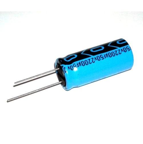 Condensatore Elettrolitico 2200uF 50V Radiale dimensioni 35x16mm