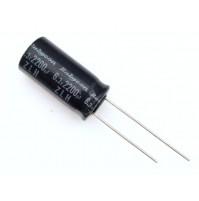 Condensatore Elettrolitico 2200uF 6,3V 105°C Radiale 10x21mm ZLH Rubycon