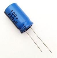 Condensatore Elettrolitico 220uF 100V 85°C Radiale 13x22mm JH