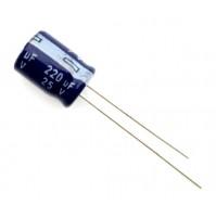 Condensatore Elettrolitico 220uF 25V 85°C Radiale Ø8x12mm Arcotronics (3 Pezzi)