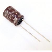 Condensatore Elettrolitico 220uF 35V 105°C Radiale 10x11mm Daewoo