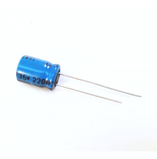 Condensatore Elettrolitico 220uF 35V 85°C Radiale 10x11mm Lelon (2 pezzi)