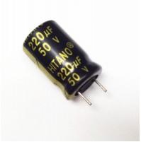 Condensatore Elettrolitico 220uF 50V 105°C Radiale 10x16mm Hitano