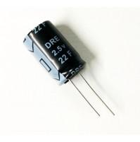 Condensatore Elettrolitico 22F 2,5V 85°C Radiale 16x27mm DRE SAMXOM