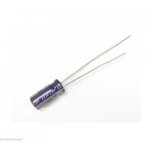 Condensatore Elettrolitico 22uF 25V 85°C Radiale 5x11mm VX Nichicon (4 pezzi)