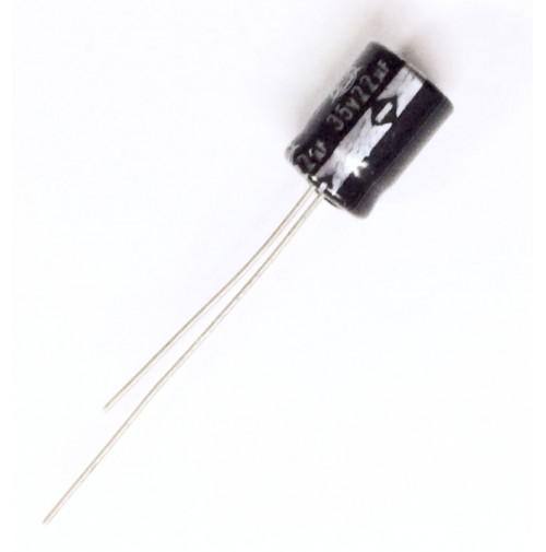 Condensatore Elettrolitico 22uF 35V 85°C Radiale 8x12mm ISKRA (2 pezzi)