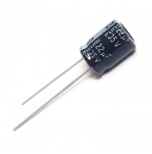 Condensatore Elettrolitico 22uF 35V 85°C Radiale 8x12mm PUNSUMI (2 pezzi)