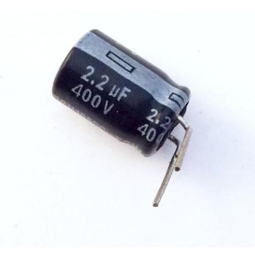 Condensatore Elettrolitico 2,2uF 400V 105°C Radiale 8x12mm AV (2 Pezzi)