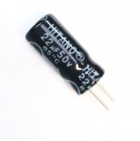 Condensatore Elettrolitico 22uF 50V 85°C Radiale 5x11mm HITANO