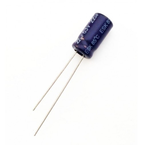 Condensatore Elettrolitico 22uF 63V 85°C Radiale 6x12mm AV (2 pezzi)