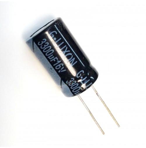 Condensatore Elettrolitico 3300uF 16V 105°C Radiale 16x27mm G-LUXON