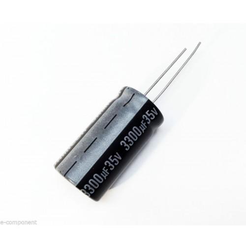 Condensatore Elettrolitico 3300uF 35V 105°C Radiale 19x35mm Jamicon