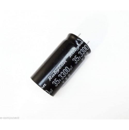 Condensatore Elettrolitico 3300uF 35V 105°C Radiale 19x35mm performato