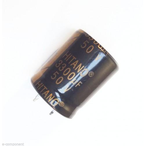Condensatore Elettrolitico 3300uF 50V 105°C Snap-in Radiale 25x31mm
