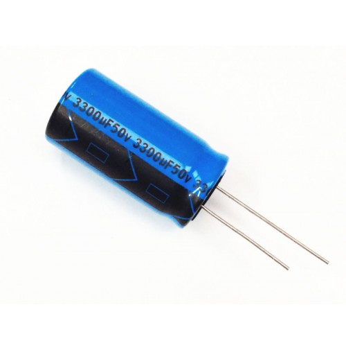 Condensatore Elettrolitico 3300uF 50V 85°C Radiale 18x35mm Lelon