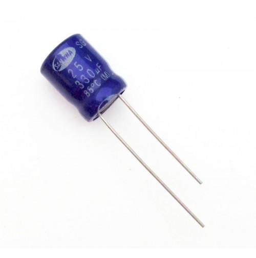 Condensatore Elettrolitico 330uF 25V 85°C Radiale 10x13mm SAMWHA