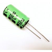 Condensatore Elettrolitico 330uF 50V 85°C Radiale 17x26mm Samar