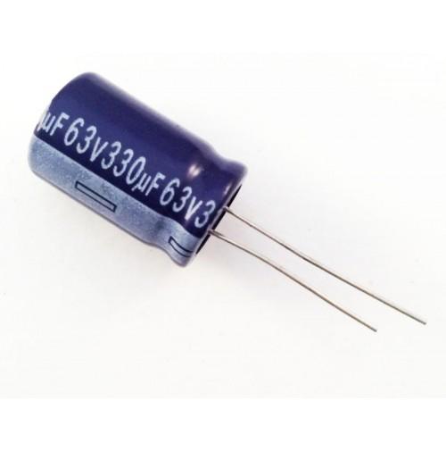 Condensatore Elettrolitico 330uF 63V 105°C Radiale 14x22mm AISHI