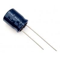 Condensatore Elettrolitico 33uF 100V 85°C Radiale Ø10x13mm ELNA