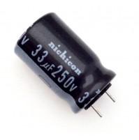Condensatore Elettrolitico 33uF 250V 85°C Radiale Ø13x22mm Nichicon