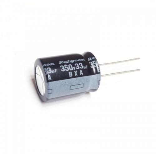Condensatore Elettrolitico 33uF 350V 105°C Radiale 16x22mm Rubycon