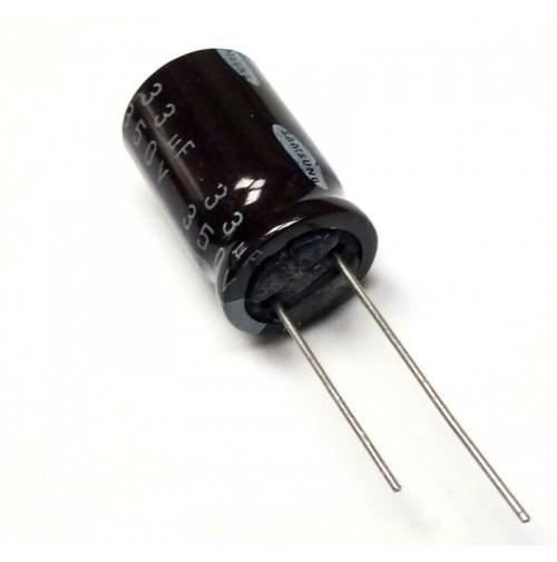 Condensatore Elettrolitico 33uF 350V 105°C Radiale 16x27mm Samsung