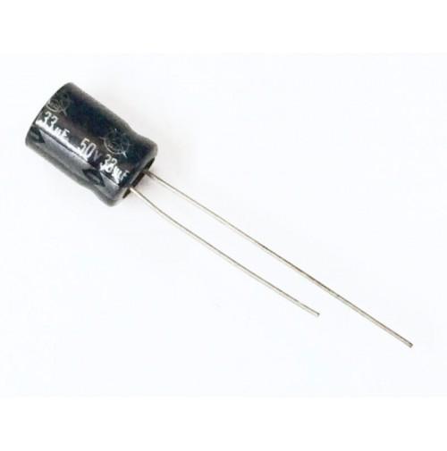 Condensatore Elettrolitico 33uF 50V 85°C Radiale 8x12mm ISKRA