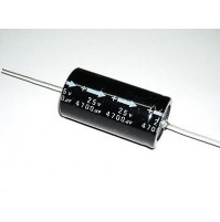 Condensatore Elettrolitico 4700uF 25V -40/+85°C Assiale 50x25mm