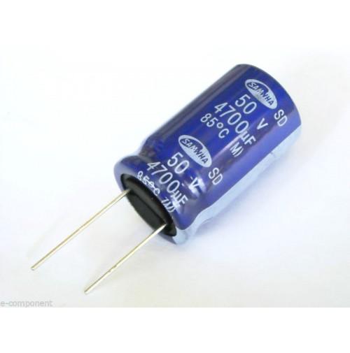 Condensatore Elettrolitico 4700uF 50V 25x40mm Radiale