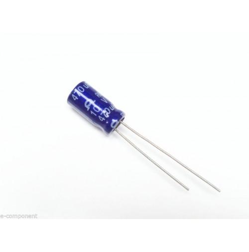 Condensatore Elettrolitico 470uF 10V 85°C Radiale 6x11mm (5 pezzi)