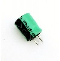 Condensatore Elettrolitico 470uF 25V 105°C Radiale Ø10x12mm marca Lelon