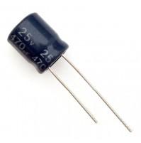 Condensatore Elettrolitico 470uF 25V 105°C Radiale Ø10x21mm JH