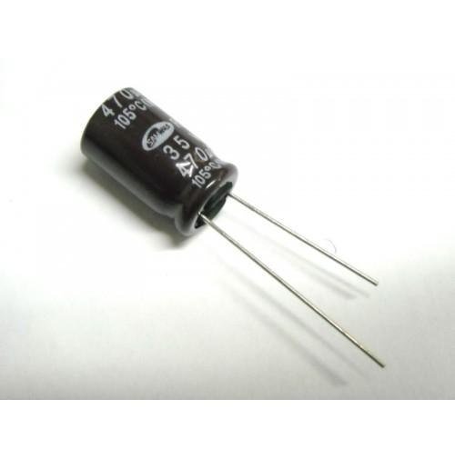 Condensatore Elettrolitico 470uF 35V -25/+105°C Radiale