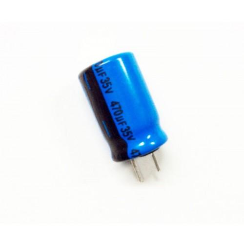 Condensatore Elettrolitico 470uF 35V 85°C Radiale 10x17mm Lelon