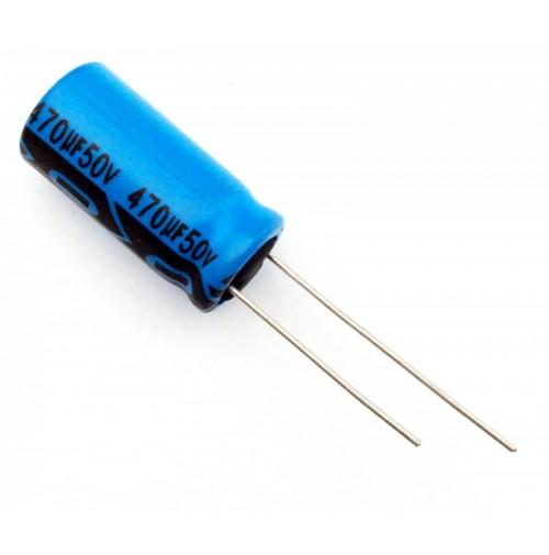Condensatore Elettrolitico 470uF 50V 85°C Radiale Ø10x20mm Lelon
