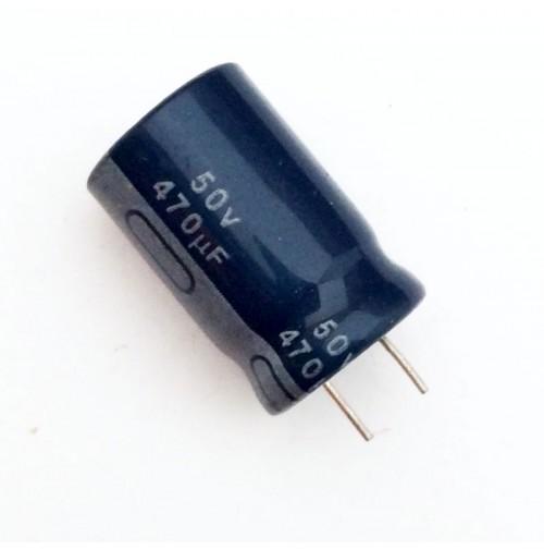 Condensatore Elettrolitico 470uF 50V 85°C Radiale 13x20 JH