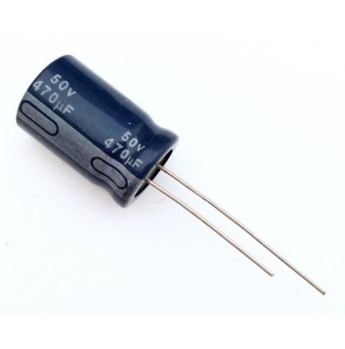 Condensatore Elettrolitico 470uF 50V 85°C Radiale 13x20mm JH