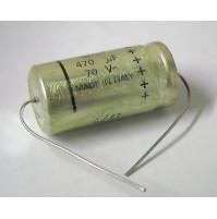 Condensatore Elettrolitico 470uF 70V 85°C 36x18mm Assiale