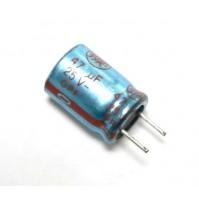 Condensatore Elettrolitico 47uF 25V 85°C Radiale 1 Pezzo