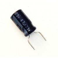 Condensatore Elettrolitico 47uF 25V 85°C Radiale 6x12mm SE Nichicon (3 pezzi)